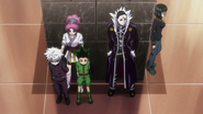 Gon and Killua captured by the Phantom Troupe