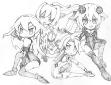Hyperdimension neptunia the four cpu s chibi by sonic171000-d7z7qtk