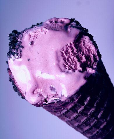 File:Colorful Black Raspberry Ice Cream Cone.jpg