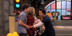 Spencer tickles Sam Freddie