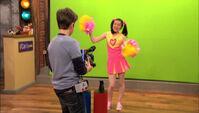 Freddie films Carly as Melanie Higgles