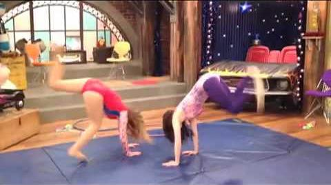 ICarly Video! GYMNASTICS with Carly & Sam