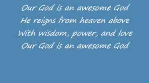 Awesome God - Rich Mullins w Lyrics