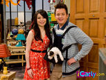 Carly and Gibby with puppy