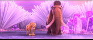 Ice Age Collision Course Manny & Diego looking at sid funny