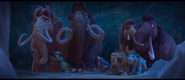 Ice Age Collision Course Herd hiding in Cave