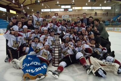 2016 BCHL champs West Kelowna Warriors