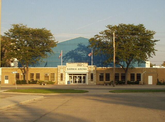 File:Sarnia Arena exterior.jpg