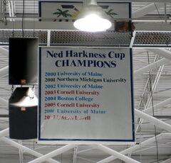 Florida College Hockey Classic winners banner, Germain Arena, Estero, FL