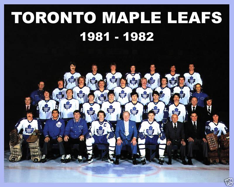 1981 82 Toronto Maple Leafs Season Ice Hockey Wiki