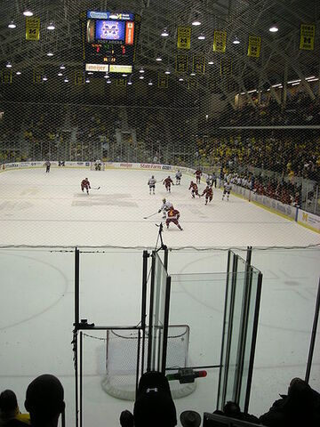File:Michigan attempts an empty net goal.JPG