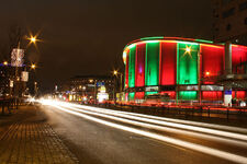 Scandinavium at night