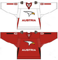 Austria national ice hockey team Home & Away Jerseys