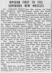 His hockey supsvsflyers pubDec15 1960