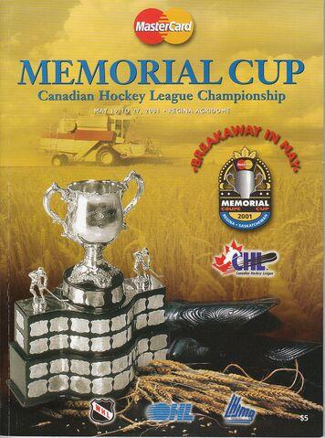 File:PROGRAM-2001 - PROGRAM - MEMORIAL CUP PROGRAM COVER.jpg