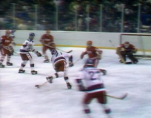 Miracle on Ice - Eruzione tees up goal
