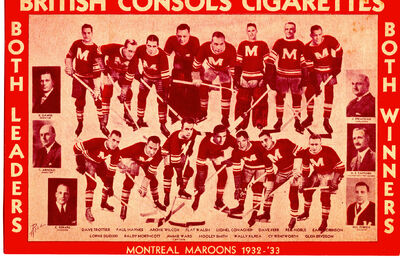 1932 33 montreal maroons
