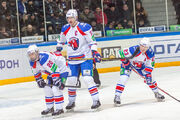 Vrána, Chára, Bartečko 2012-12-02 Amur—Lev Praha KHL-game