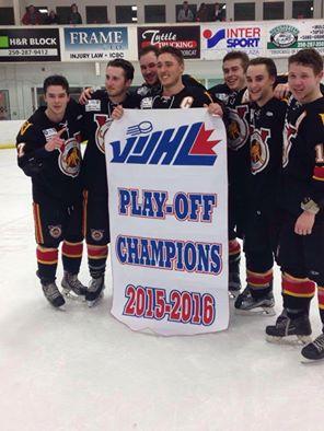 2016 VIJHL champs Victoria Cougars