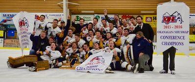 2016 KIJHL champs 100 Mile House Wranglers