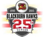 Blackburn Hawks 25th anniversary logo