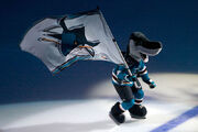Sharkie with flag