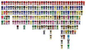 All super sentai a k a power rangers pixel art by miralupa-d2plajx