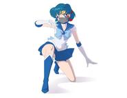 Sailor Scouts in Poison-Shielding Masks -2 - Sailor Mercury
