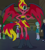 Sunset Shimmer in demon form EG