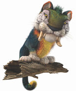 MACAWNIVORE-With-the-body-of-a-small-tiger-an-over-sized-head-and-the-colorization-of-a-Macaw-Parrot-the-Macawnivore-is-an-imposing-creature-who-towers-over-the-Croods.