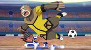 Tetsukado making a tackle