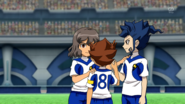 Shindou Tsurugi Tenma celebrating their goal Galaxy 1 HQ