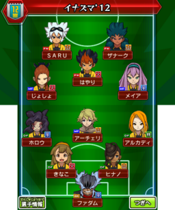 Formation of Inazuma '12
