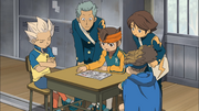 Endou & the others talking about Majin the Hand