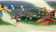 Raimon's defense broken by Zanark (CS 25 HQ)