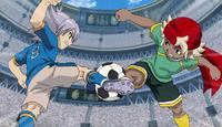 Fubuki and Ryuu fighting for the ball IE 125