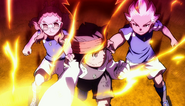 Kidou, Endou and Gouenji