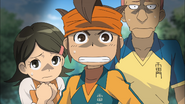 Endou, Aki and Someka freaked out