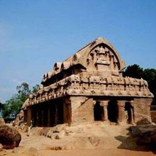 One of the rathas-group of Monuments at Mahabalipuram-UNESCO World Heritage Site.