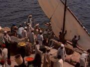 Disembarking in Cairo
