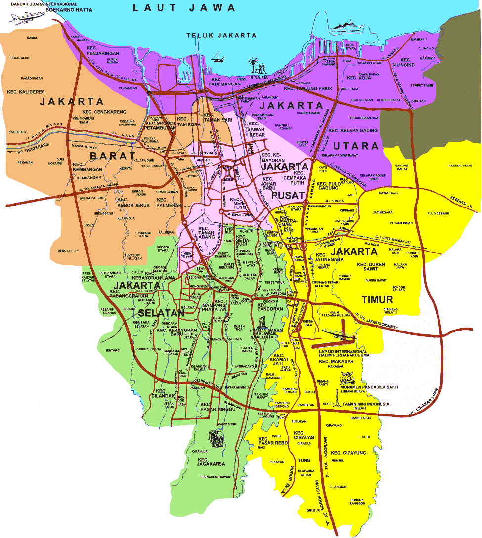 Image - Map-Jakarta-overall.png | Indonesia | FANDOM ...