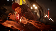 InFAMOUS Second Son-Delsin smoke swirling night