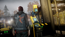 Delsin in front of Scanning Station in Queen Anne
