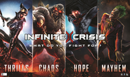 Infinite Crisis What do you fight for poster and wallpaper