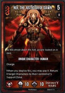 Nix, The Justicar Of Dawn