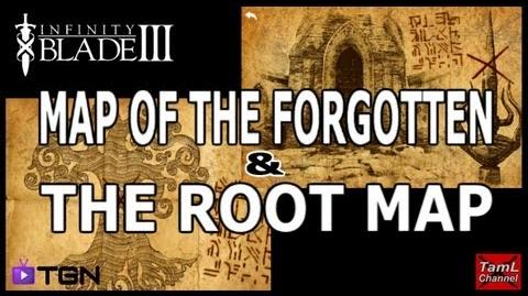Infinity Blade 3 MAP OF THE FORGOTTEN & THE ROOT MAP!