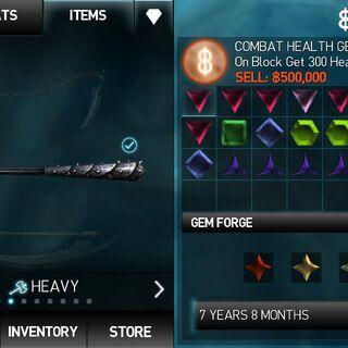 The gem forge order.