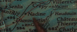 Nadine on the map