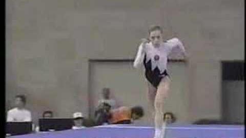 Tatiana Lysenko - 1992 Olympics AA - Vault 1