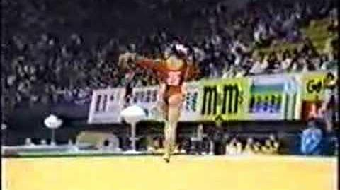 1990 Asian Games gymnastics Chen Cuiting floor exercise